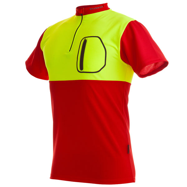 Stretch-Air Short Sleeved-Red